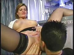 Mature Woman Teaching Young Boy F70