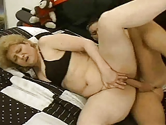 Euro Mature Gal Fucks A Muscle Stud