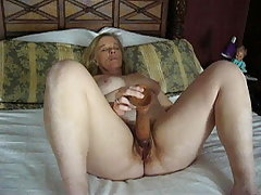 Doing The Big Dildo Hard Cum