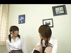 Japanese Women Caress Each Other
