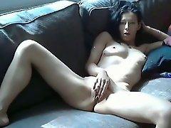 Hot Teen Brunette Home Alone