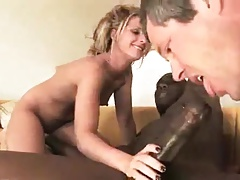 Bbc Too Big For Wife So Hubby Sucks To Helped It In