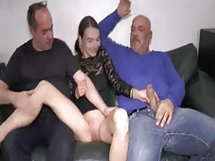 Teen Double Fisted And Fucked By Two Brutes Enjoy