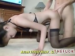 Undemanding Brown Eyed Asian Anal
