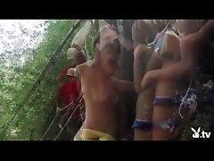 Naked Girls Rock Climbing