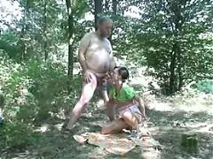 Young Girl Fucked By Old Man In The Woods