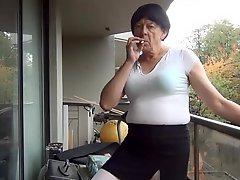 Naughty Gigi In Black And White Smoking