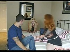 Naughty MILF And Not Her Daughter Corrupt The Neighbor Boy