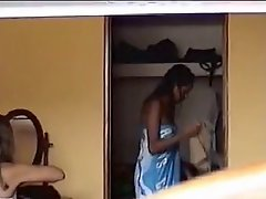 Peeping At 2 Brazilian Girls Getting Dressed Voyeur