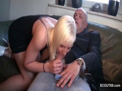 63yr Old Grandpa Fucks 18yr Old Teen Because She Need Money