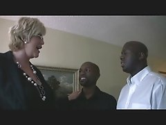 Mature Blonde Amp Two Black Guys 1