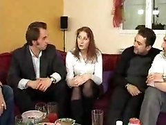 French Woman Fuck With 4 Men Gang Bang