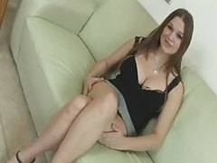 Gorgeous Brunette With Natural Tits Gets A Creampie