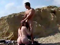 Nude Beach Striking Redhead Anal
