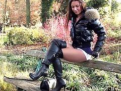 Public Sexy Mini Skirt Amp Overknee Boots Gianmarco Lorenzi