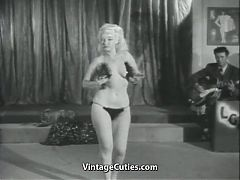Sexy Blondes Erotic Dance For Audience 1950s Vintage