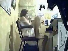 Spycam Girl Caught Masturbating On Computer