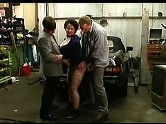 Big Tit Chubby Mature Dp In The Garage
