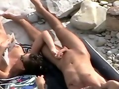 Nude Beach Great Tease Blow And Handjob